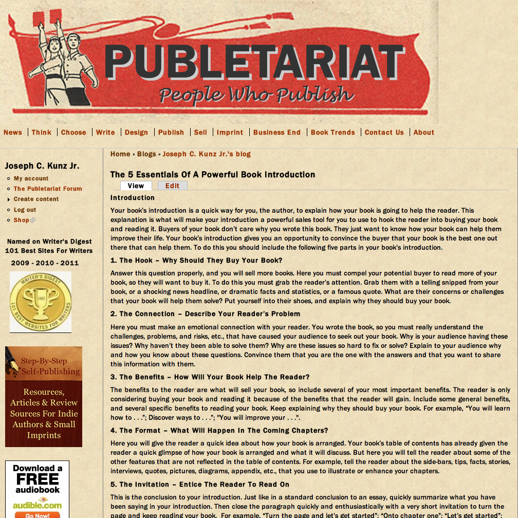 Publetariat - April Hamilton's website for people who publish