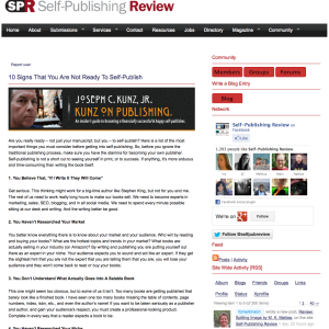 Self Publishing Review - Not Ready To Publish