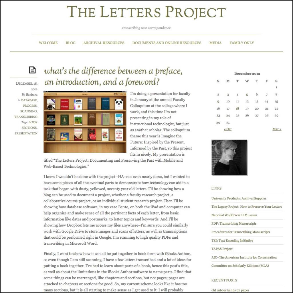 Thank you to Barbara Pittman for linking to this article from her website PittmanLettersProject.com