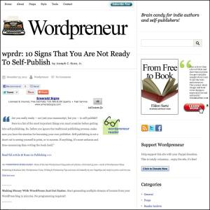 Thank you to Eldon Sarte of WordPreneur.com for featuring this article on his website.