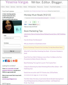 Thank you to Yesenia Vargas for linking to this article about passive marketing