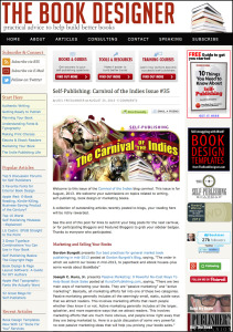 Thank you to Joel Friedlander for linking to this article from his website Carnival Of The Indies #35