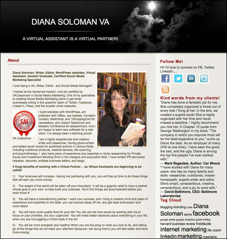 Thank you to Diana Soloman for featuring this article on her website MyVADiana.com/.