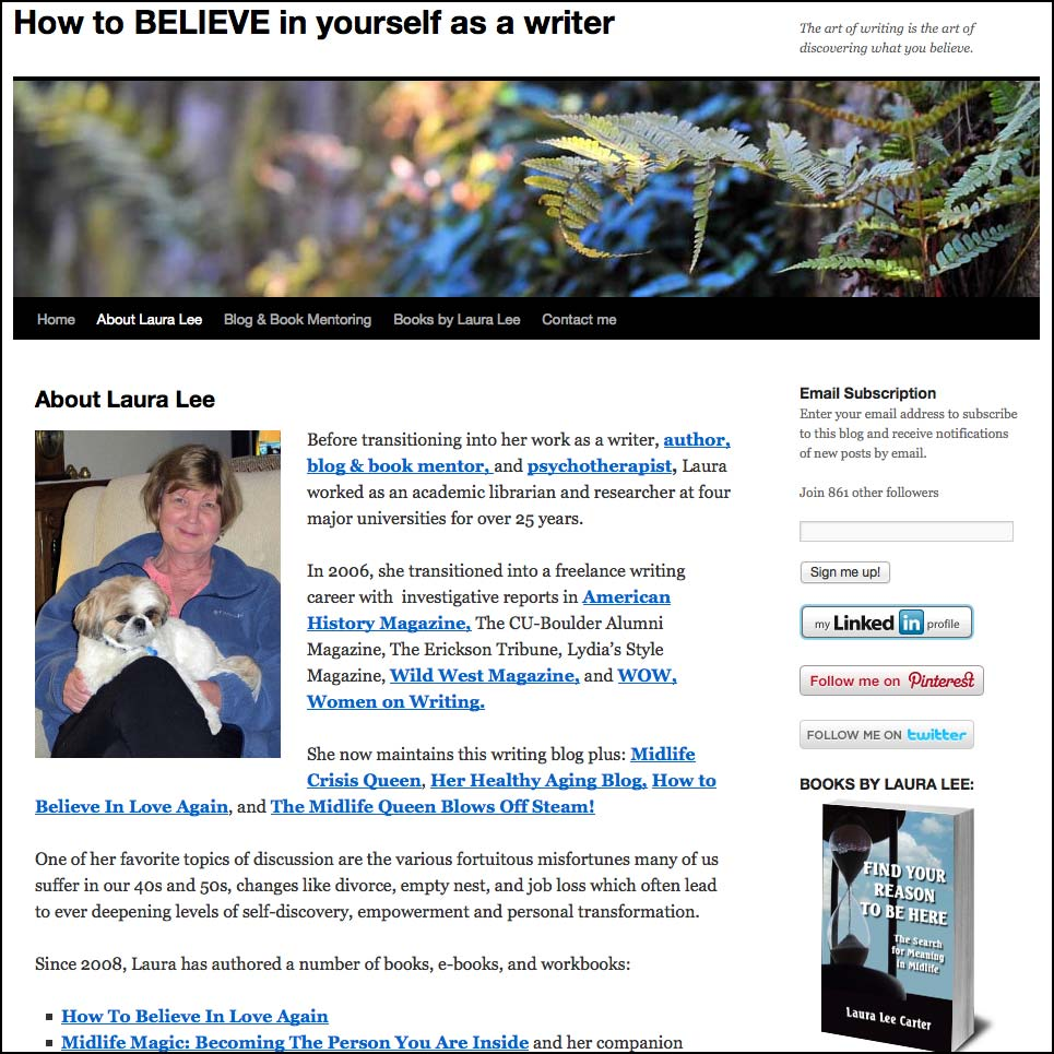 Thank you to Laura Lee for linking to this article from her website StressManagementForWriters.WordPress.com""