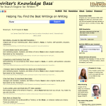 The Writer's Knowledge Base