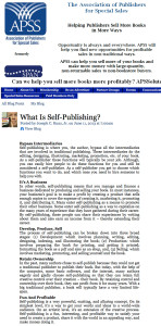 SPAN APSS What Is Self-Publishing