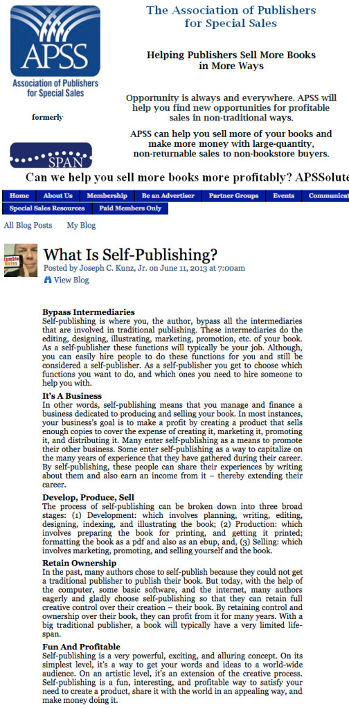 SPAN APSS What Is Self-Publishing?