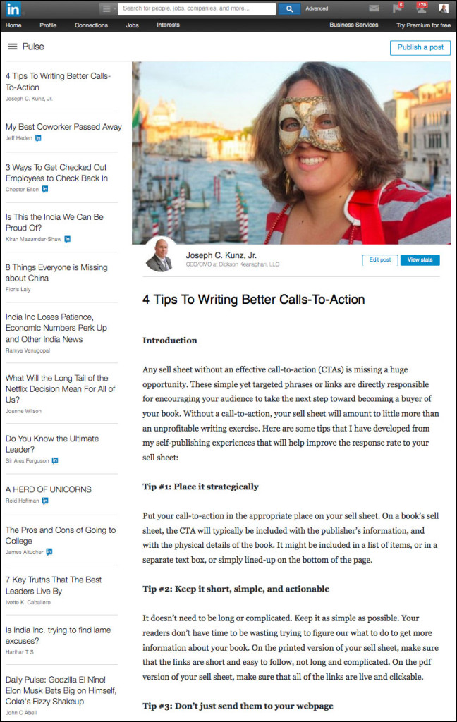 Linkedin - 4 Tips To Writing Better Calls-To-Action