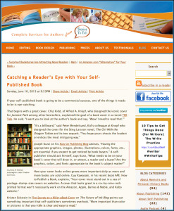 """Thank you to Nancy and Merritt Barnes of StoriesToTellBooks.com for quoting and linking to my article """"7 Things Readers Notice When Picking Up A Book"""". Also quoted in this article are Chip Kidd, Michael Hyatt, Mark Coker, and Kristen Eckstein."""