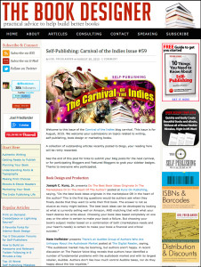 Thank you to Joel Friedlander for linking to this article from his website Carnival Of The Indies #59