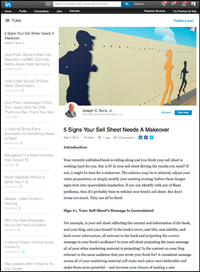 Linkedin - 5 Signs Your Sell Sheet Needs A Makeover