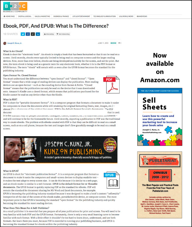Business2Community.com - Ebook, PDF, And EPUB: What Is The Difference?