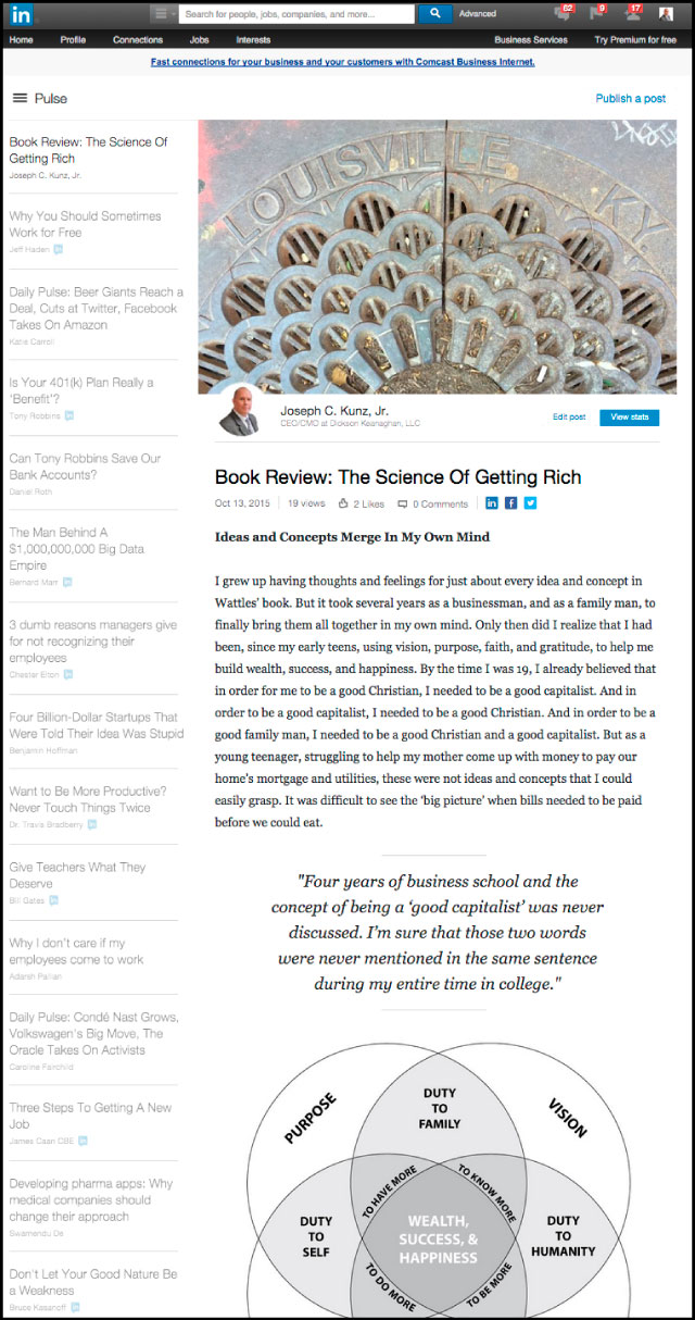 Linkedin - Book Review: The Science Of Getting Rich