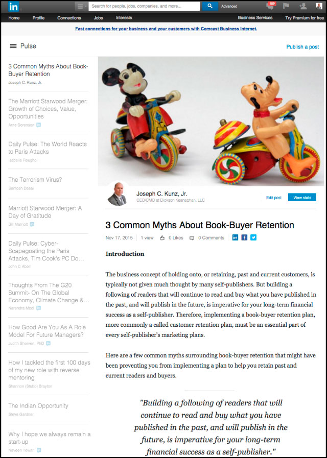 Linkedin - 3 Common Myths About Book-Buyer Retention