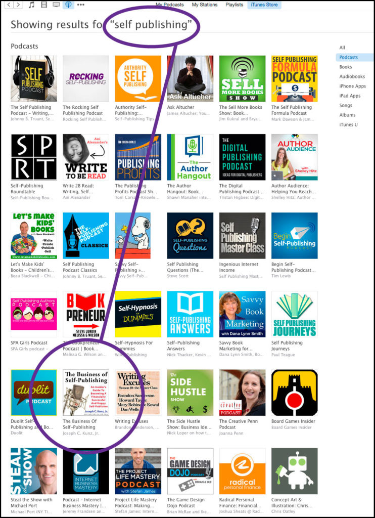 "The Business Of Self-Publishing Podcast by Joseph C. Kunz, Jr. on iTunes in the ""Self-Publishing"" Category"
