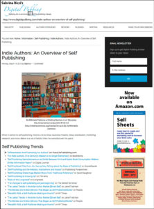 """Thank you to Sabrina Ricci of DigitalPubbing.com for featuring my blog post """"Differentiation And Positioning For Authors"""" on her blog."""