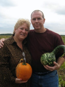 Picking pumpkins and gourds on the east end of Long Island, NY