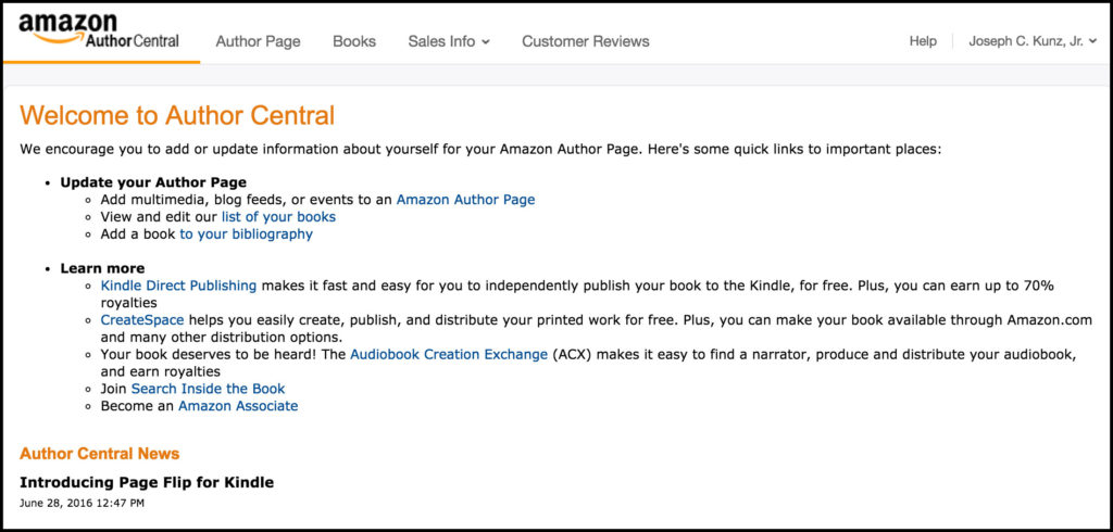 amazon-author-central-page