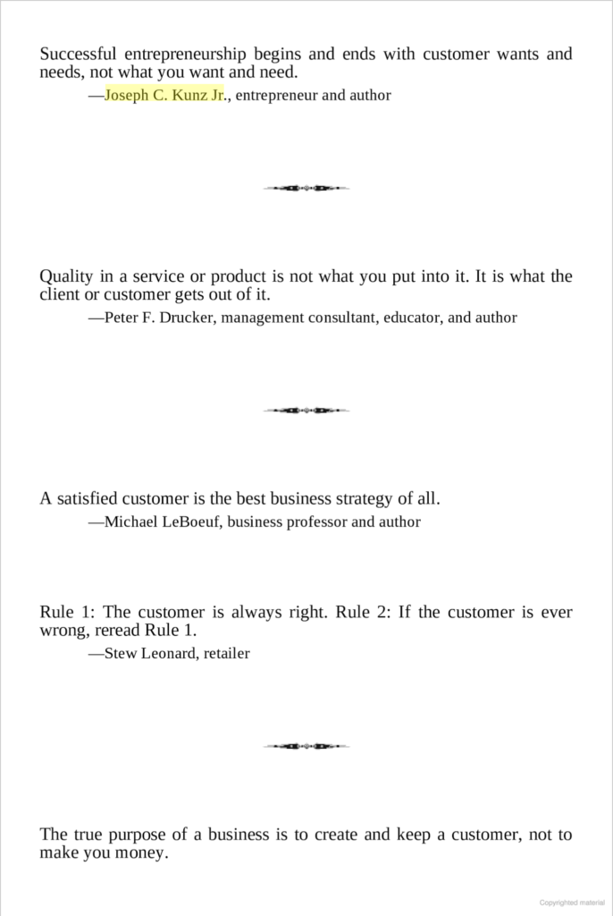 The Big Book Of Business Quotations (Kunz Quotation), by Johnnie L. Roberts
