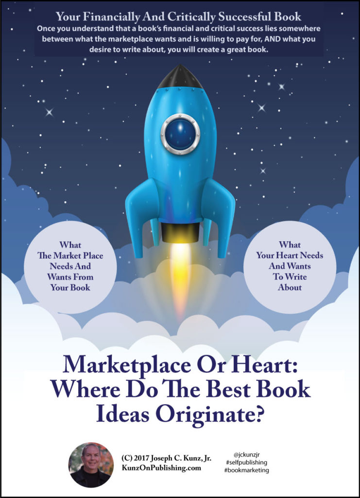 Marketplace Or Heart: Where Do The Best Book Ideas- Originate (Infographic), by Joseph C. Kunz, Jr.