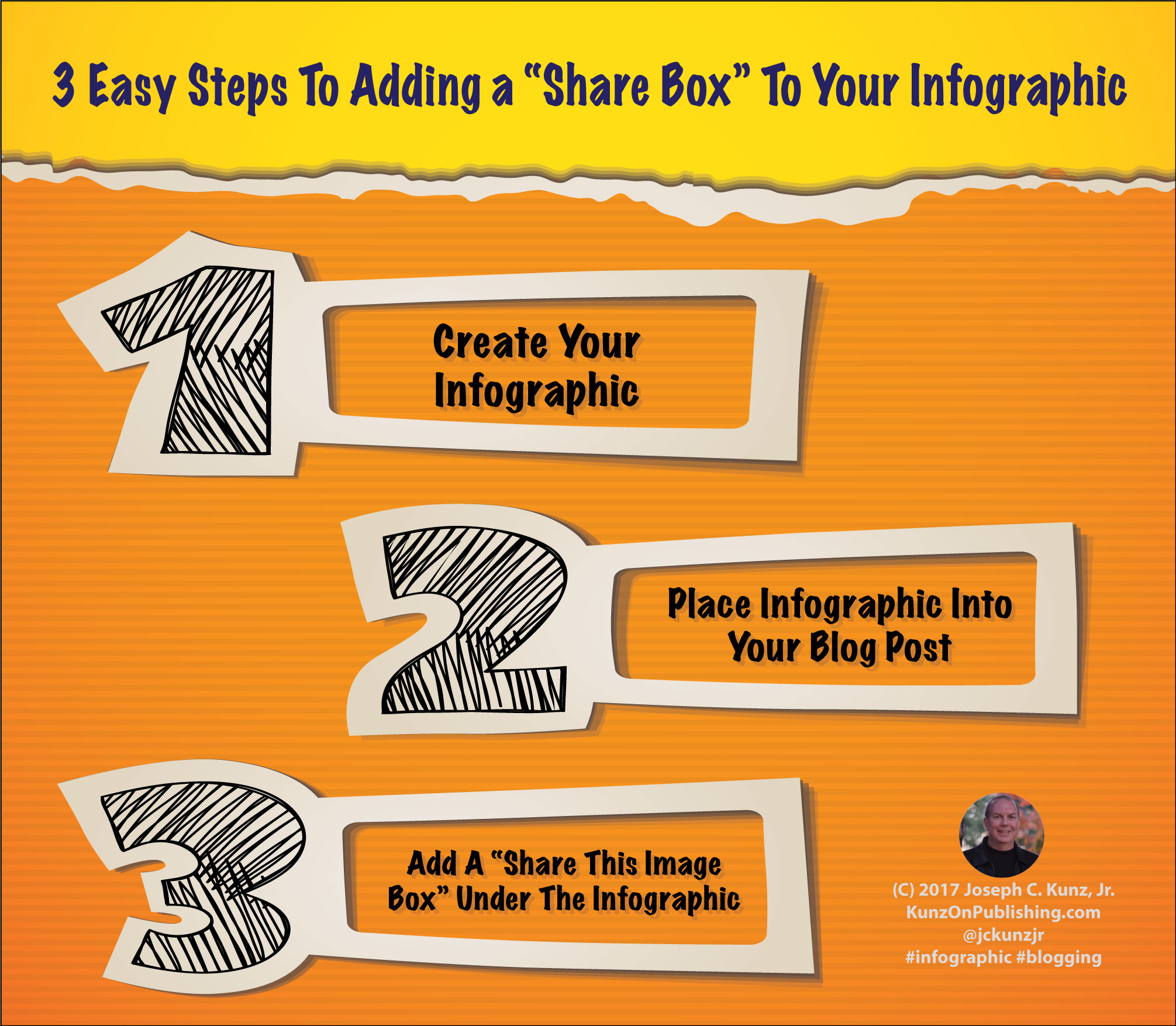 "3 Easy Steps To Adding a ""Share Box"" To Your Infographic (Infographic)"