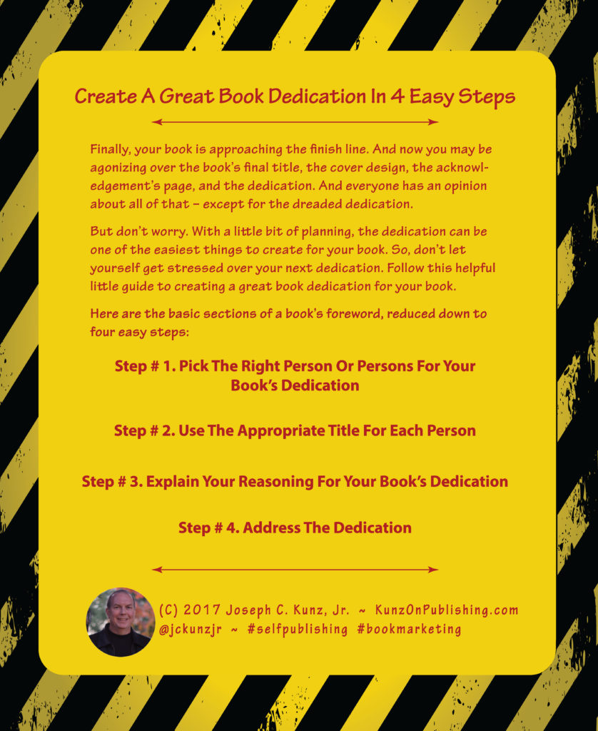 Create A Great Book Dedication In 4 Easy Steps Infographic