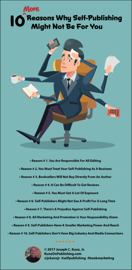 10 More Reasons That Self-Publishing Might Not Be For You (Infographic)