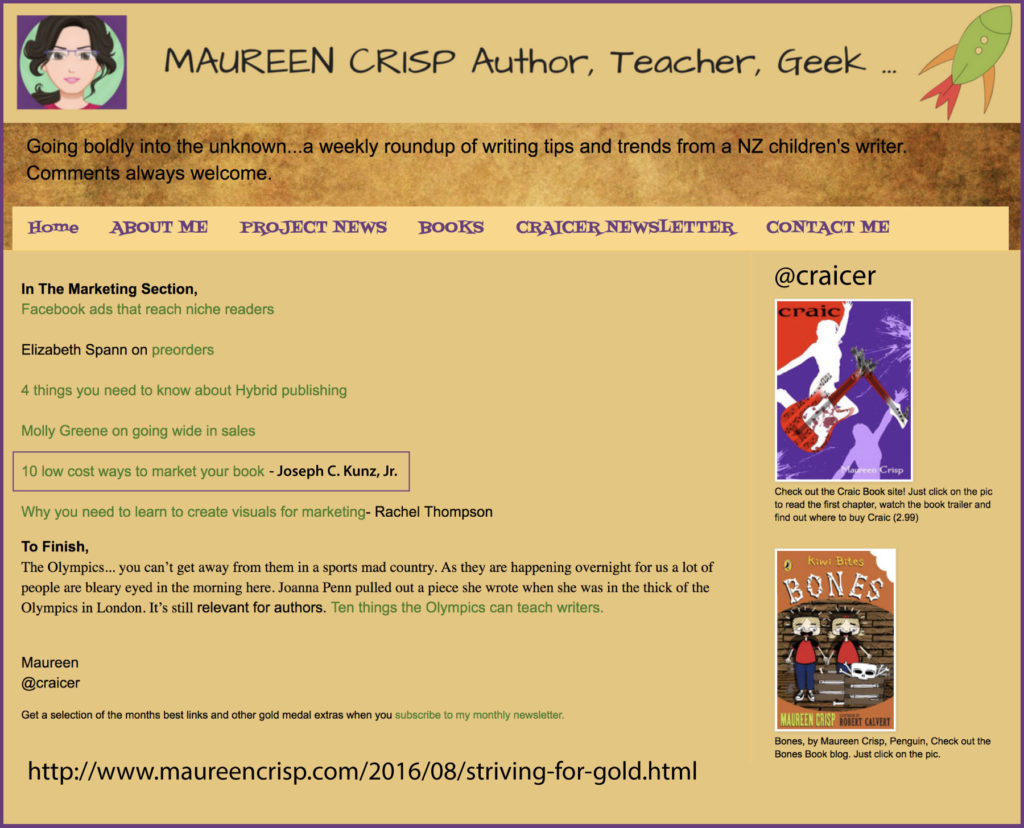 Thank you to the amazing author Maureen Crisp for linking to my blog post.