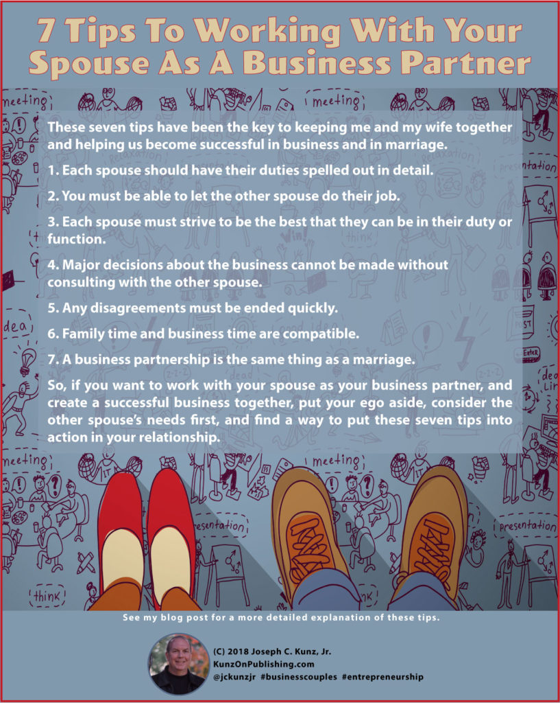 7 Tips To Working With Your Spouse As A Business Partner Infographic