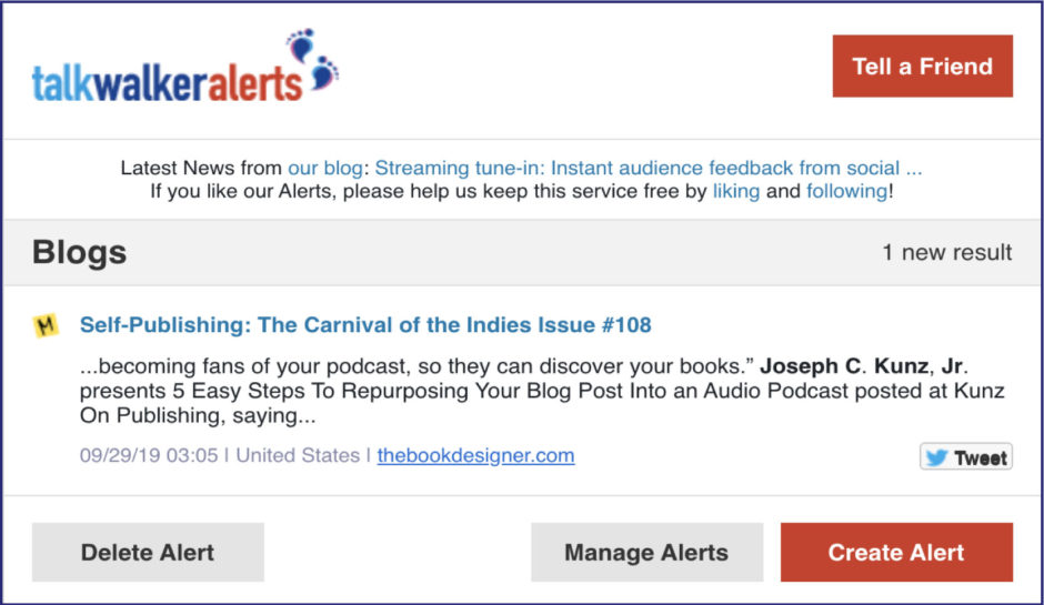 Talk Walker Alerts Carnival of the Indies 108