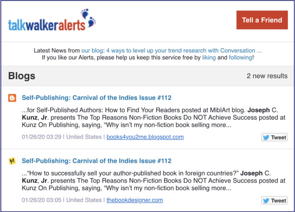 Talk Walker Alerts Carnival of the Indies 112