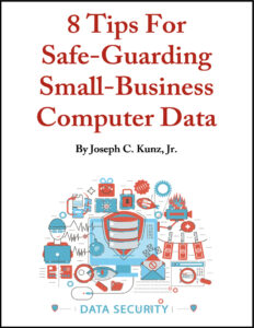 8 Tips For Safe-Guarding Small-Business Computer Data cover