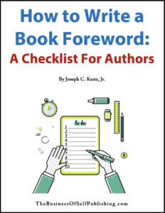 How to Write a Book Foreword - A Checklist For Authors free download 2020 cover
