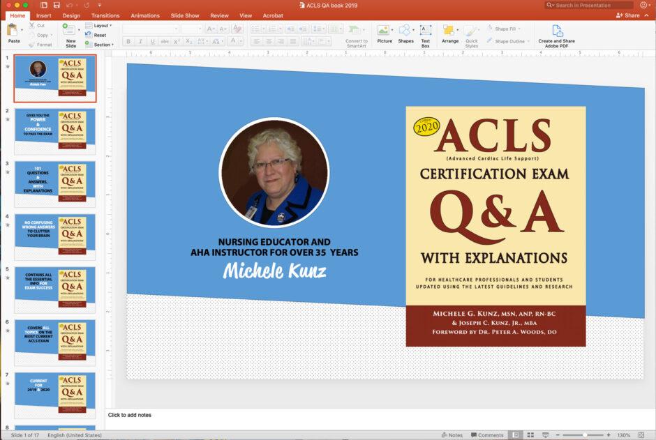 ACLS QA book PowerPoint screen shot
