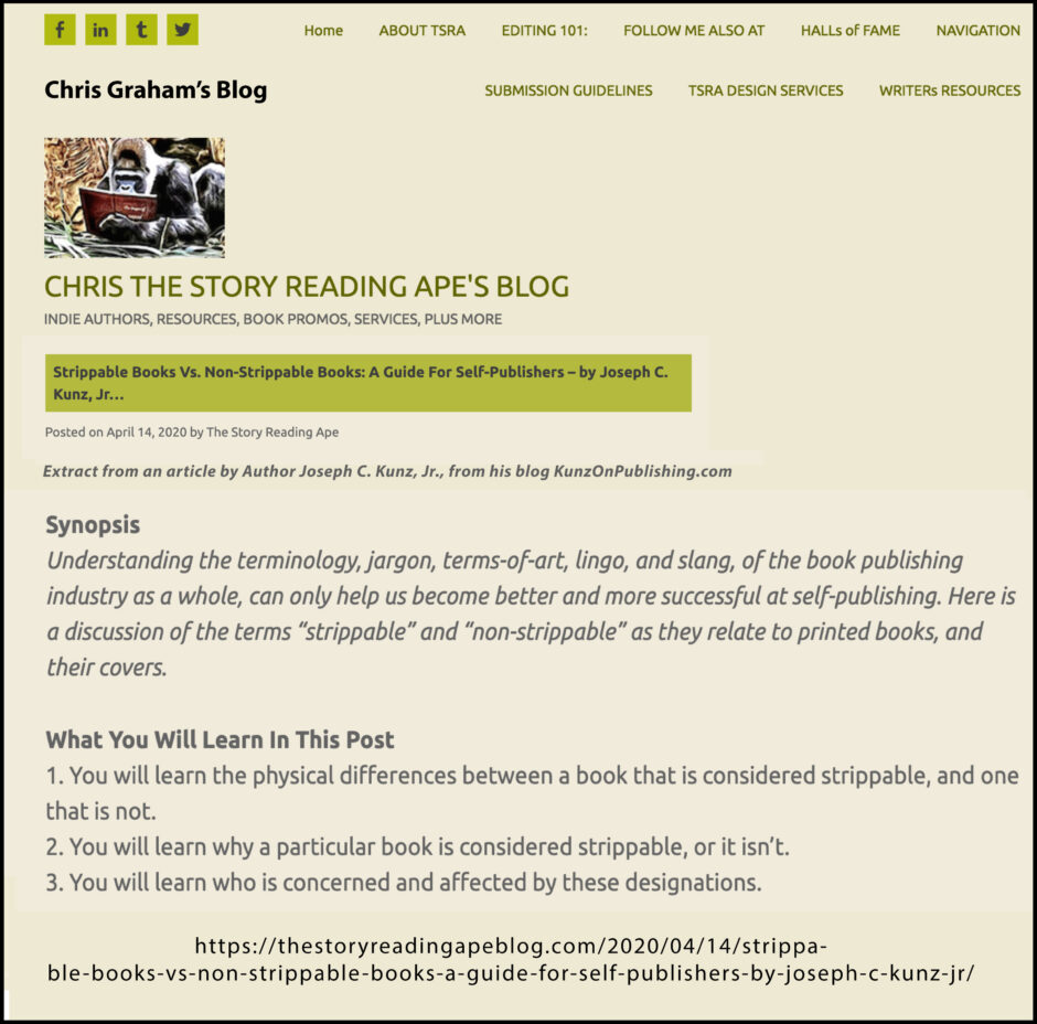 Thank you very much to Chris Graham for sharing my post on his blog The Story Reading Ape.